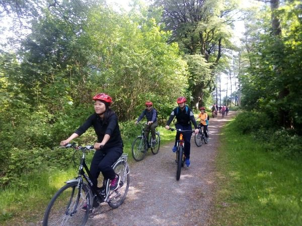 Group biking greenway